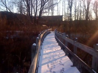 trail...early winter evening