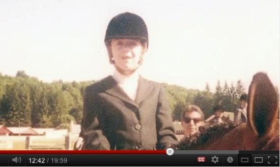 Autumn on horseback, screen shot from Overlooked, Autumn's Job Search