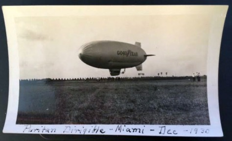 Goodyear blimp Dec 1930